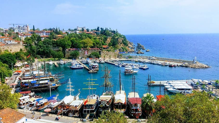 The old port in Antalya